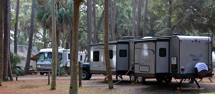 RV sites at Hunting island State Park