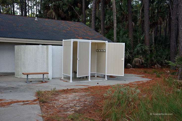 Shower and bath facilities at Hunting island State Park