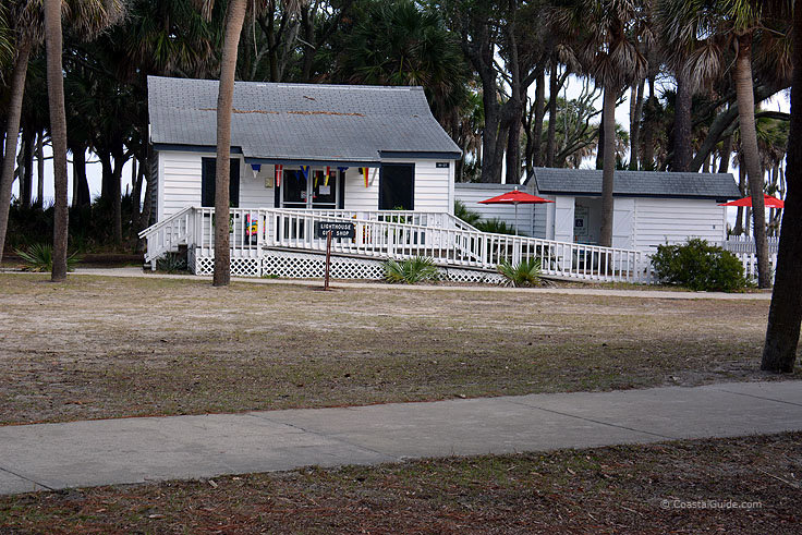 Gift shop at Hunting island State Park