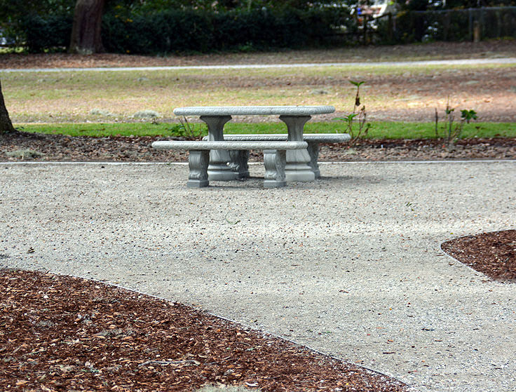 A picnic table at Pigeon Point Park