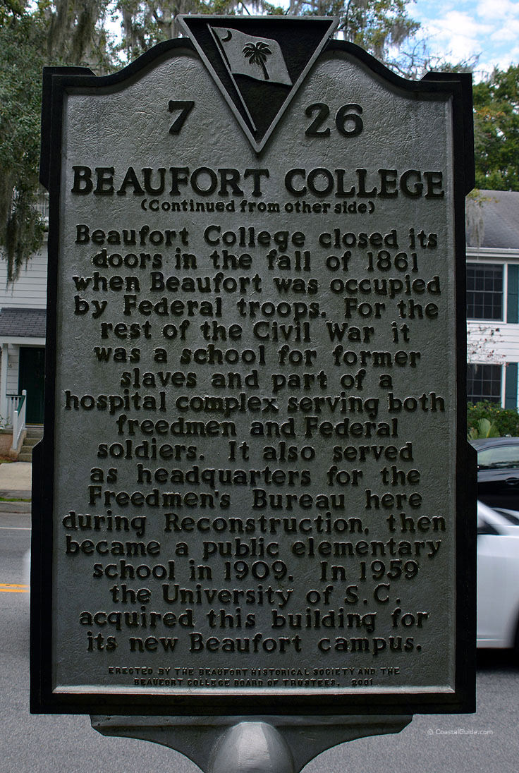Beaufort College historic marker
